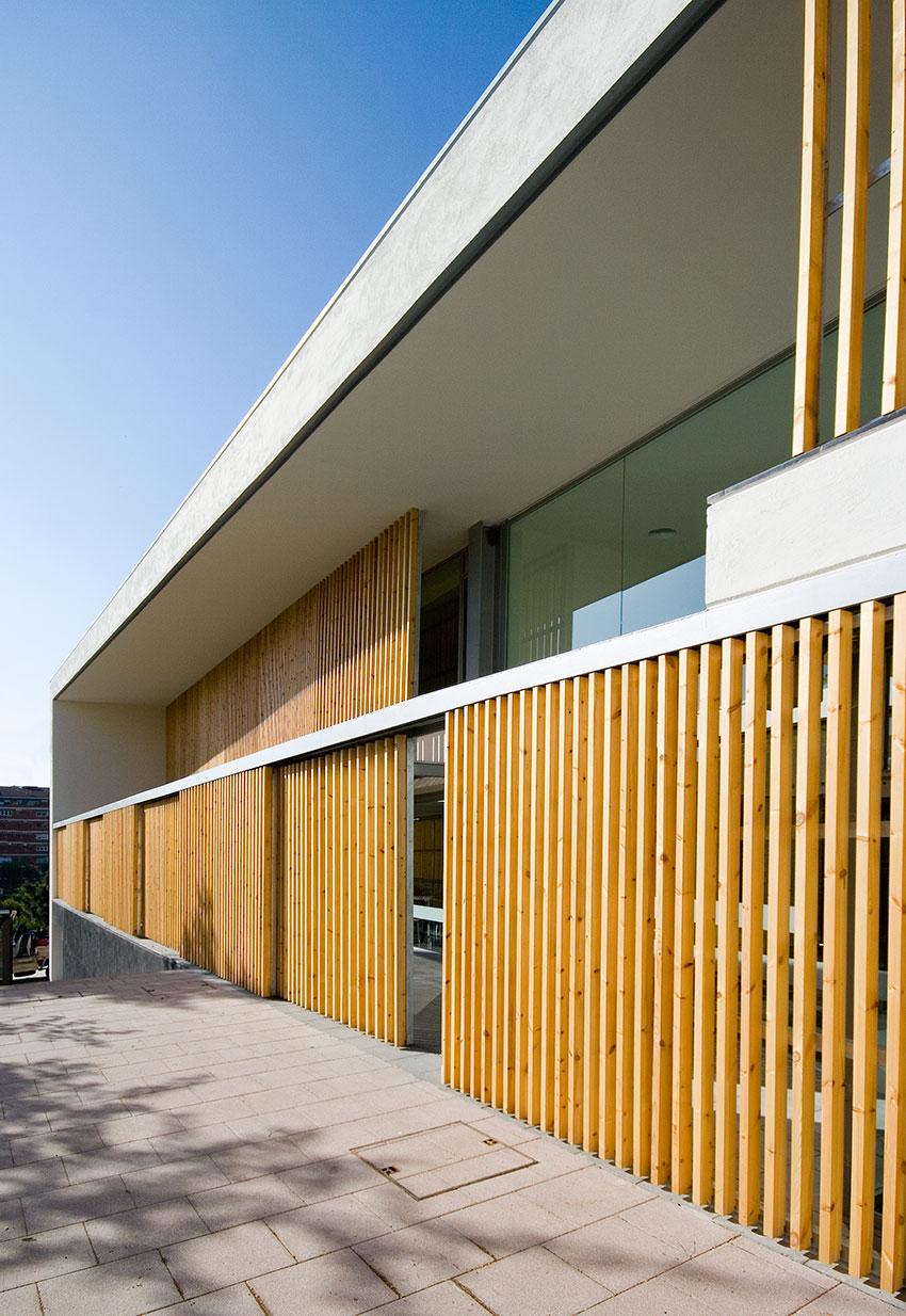 Lamas de madera wooden slats bcq arquitectura for Arquitectura de madera