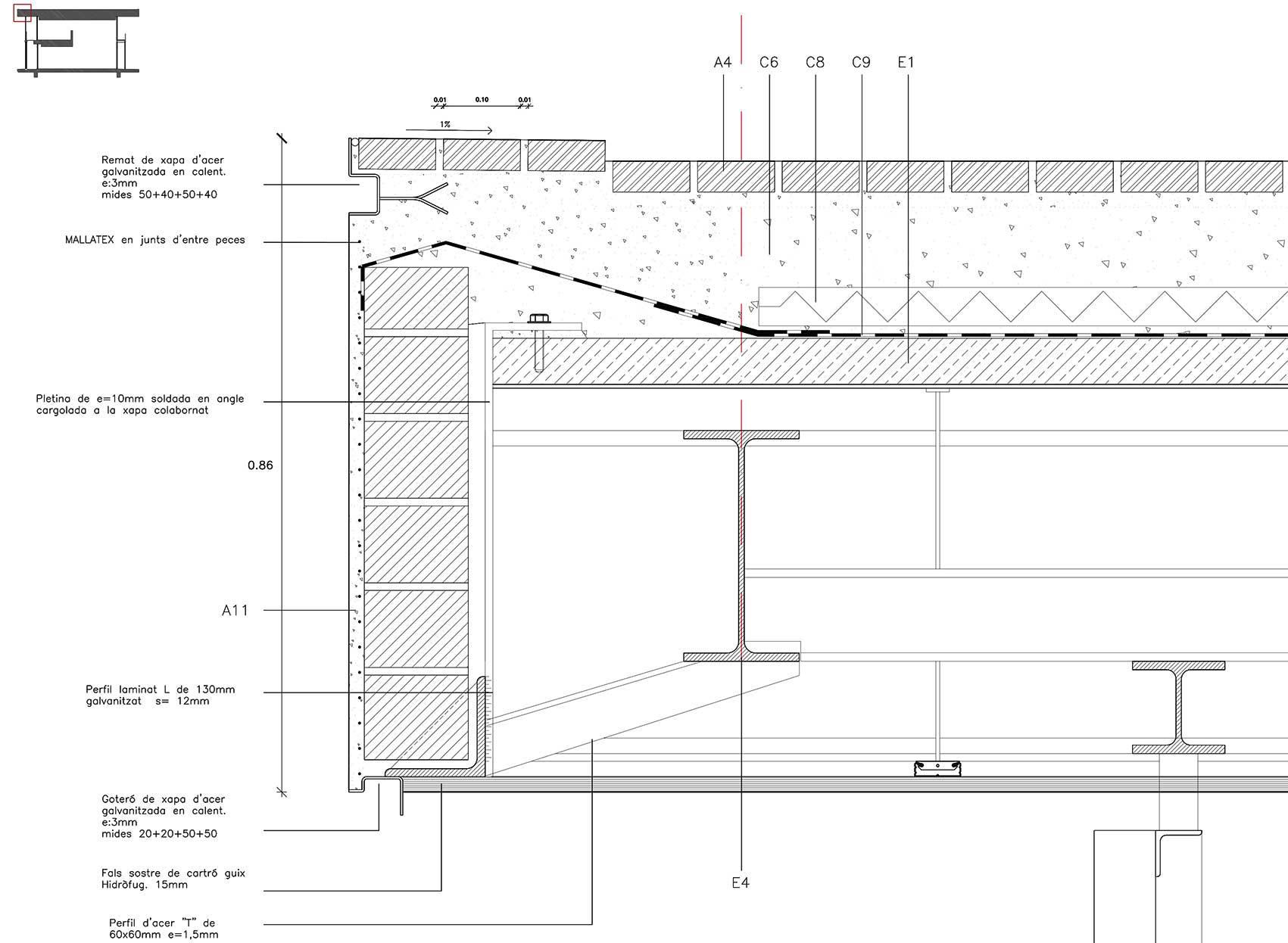 Cubierta cer mica ceramic roof bcq arquitectura - Muebles de chapa metalica ...