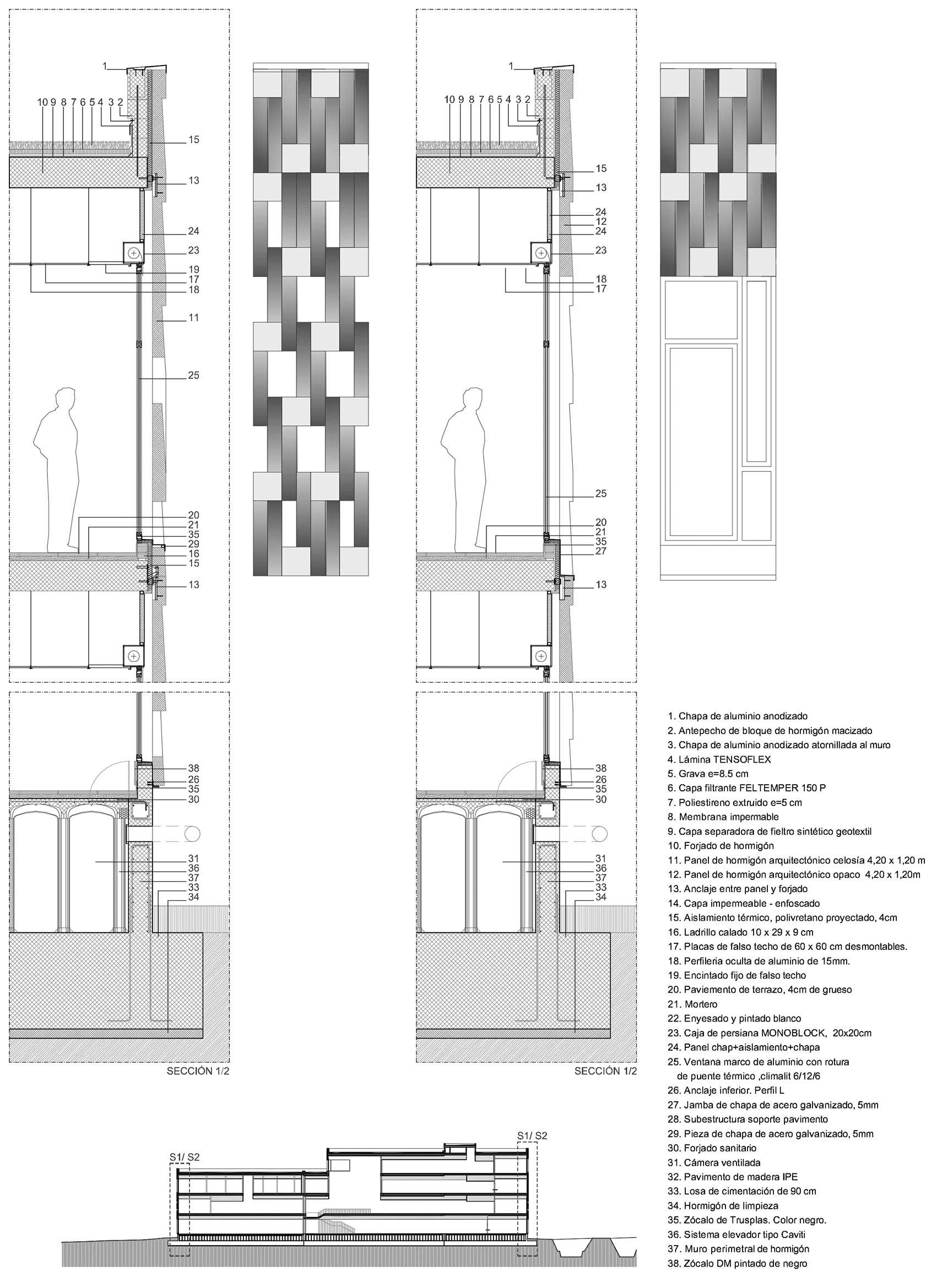 Fachada modular de hormig n modular concrete fa ade - Detalle carpinteria aluminio ...