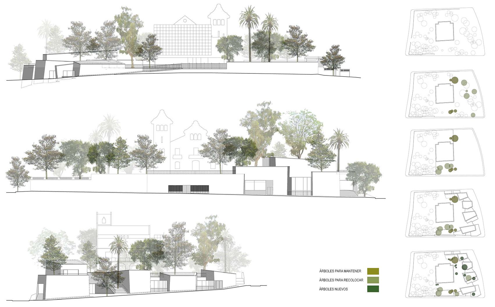Cubierta jard n garden roof bcq arquitectura barcelona - Alzado arquitectura ...